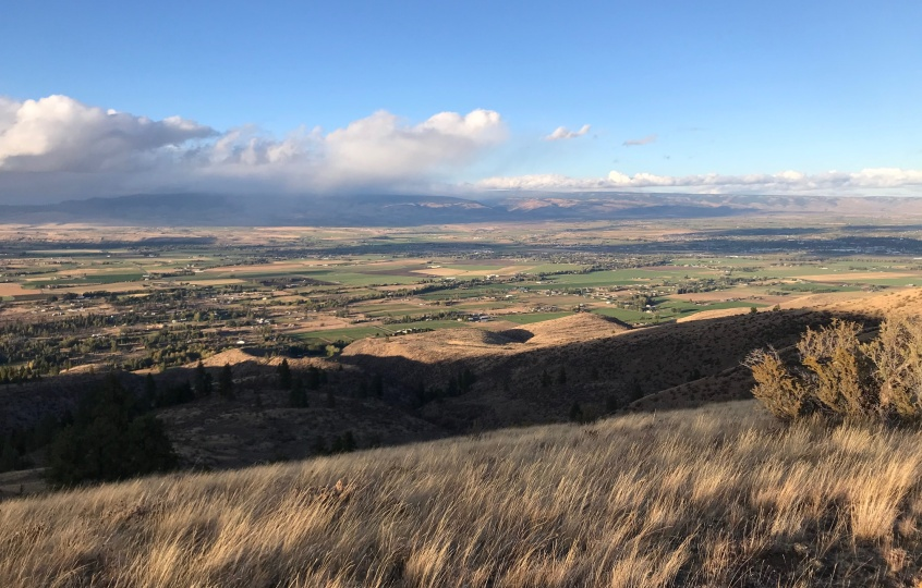 View of Ellensburg and the Kittitas Valley from Manastash Ridge